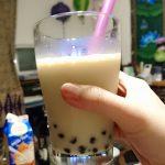 豆乳鍋とタピオカ豆乳ミルクティー。タピオカの糖質は?