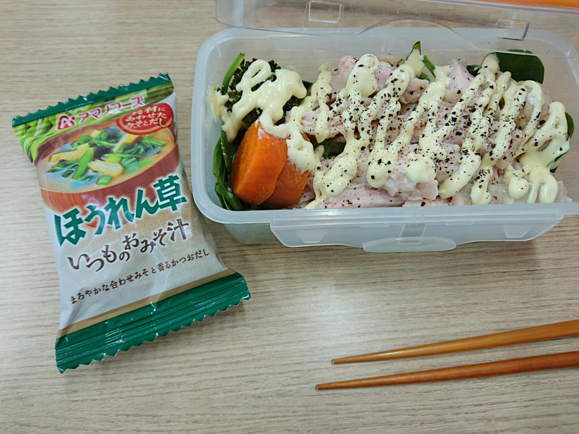 鶏ハムお弁当、糖質制限