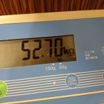 ダイエット108日目の体重